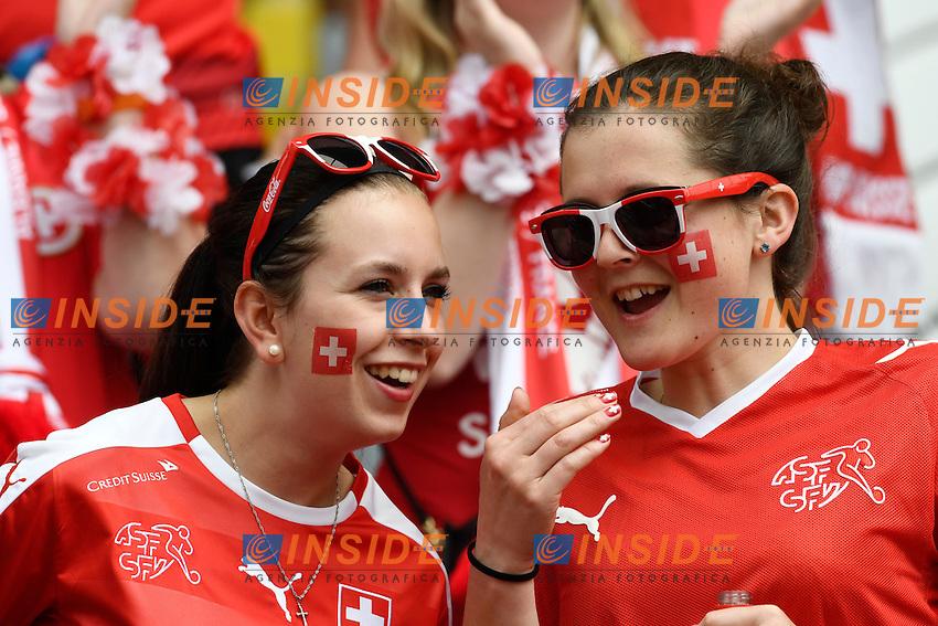 Tifose Svizzera Supporters <br /> Lens 11-06-2016 Stade Bollaert-Delelis football Euro2016 Albania - Switzerland  / Albania - Svizzera Group Stage Group A. Foto Alain Grosclaude /freshfocus / Insidefoto