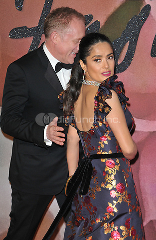 Francois-Henri Pinault and Salma Hayek at the Fashion Awards 2016, Royal Albert Hall, Kensington Gore, London, England, UK, on Monday 05 December 2016. <br /> CAP/CAN<br /> ©CAN/Capital Pictures /MediaPunch ***NORTH AND SOUTH AMERICAS ONLY***