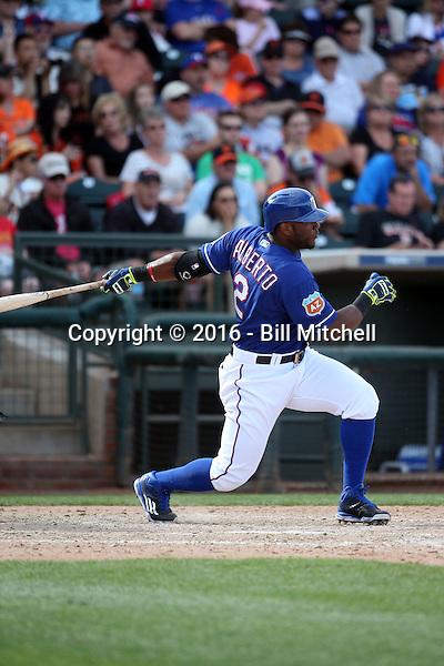 Hanser Alberto - Texas Rangers 2016 spring training (Bill Mitchell)