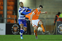 Blackpool's Matty Virtue under pressure from Reading's Jordan Obita<br /> <br /> Photographer Kevin Barnes/CameraSport<br /> <br /> Emirates FA Cup Third Round Replay - Blackpool v Reading - Tuesday 14th January 2020 - Bloomfield Road - Blackpool<br />  <br /> World Copyright © 2020 CameraSport. All rights reserved. 43 Linden Ave. Countesthorpe. Leicester. England. LE8 5PG - Tel: +44 (0) 116 277 4147 - admin@camerasport.com - www.camerasport.com