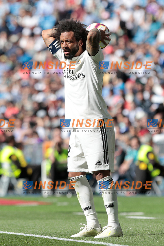 Real Madrid's Marcelo Vieira during La Liga match between Real Madrid and Villarreal CF at Santiago Bernabeu Stadium in Madrid, Spain. May 05, 2019. (ALTERPHOTOS/A. Perez Meca)<br /> Liga Campionato Spagna 2018/2019<br /> Foto Alterphotos / Insidefoto <br /> ITALY ONLY