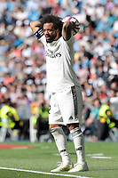Real Madrid&rsquo;s Marcelo Vieira during La Liga match between Real Madrid and Villarreal CF at Santiago Bernabeu Stadium in Madrid, Spain. May 05, 2019. (ALTERPHOTOS/A. Perez Meca)<br /> Liga Campionato Spagna 2018/2019<br /> Foto Alterphotos / Insidefoto <br /> ITALY ONLY