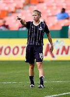 Rebecca Moros.  The Washington Freedom defeated the Saint Louis Athletica, 3-1.
