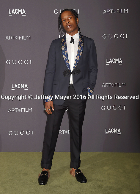 LOS ANGELES, CA - OCTOBER 29: Recording artist A$AP Rocky attends the 2016 LACMA Art + Film Gala honoring Robert Irwin and Kathryn Bigelow presented by Gucci at LACMA on October 29, 2016 in Los Angeles, California.