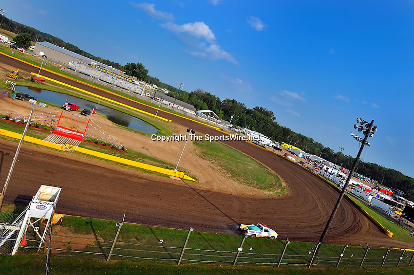 Aug 5, 2010; 5:13:42 PM; New Richmond, WI., USA; The 23rd Annual USA Nationals presented by U.S. Steel Corporation running a 50,000-to-win World of Outlaws Dirt Late Model Series sanctioned event at Cedar Lake Speedway.  Mandatory Credit: (thesportswire.net)