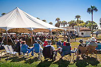 Audience braved the cold weather at the third annual Jammin' in the Hammock Bluegrass Festival at Collier-Seminole State Aprk February 13. Photo by Debi Pittman Wilkey