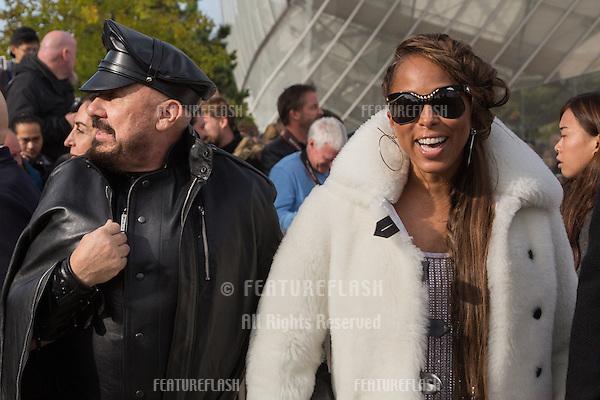 Marjorie Bridges-Woods and Steve Harvey  attend Louis Vuitton Show Front Row - Paris Fashion Week  2016.<br /> October 7, 2015 Paris, France<br /> Picture: Kristina Afanasyeva / Featureflash