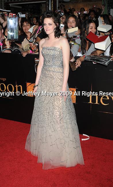 "WESTWOOD, CA. - November 16: Kristen Stewart arrives at ""The Twilight Saga: New Moon"" premiere held at the Mann Village Theatre on November 16, 2009 in Westwood, California."