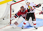 22 March 2010: Montreal Canadiens' goaltender Jaroslav Halak makes a second period save against the Ottawa Senators at the Bell Centre in Montreal, Quebec, Canada. The Senators shut out the Canadiens 2-0 in their last meeting of the regular season. Mandatory Credit: Ed Wolfstein Photo