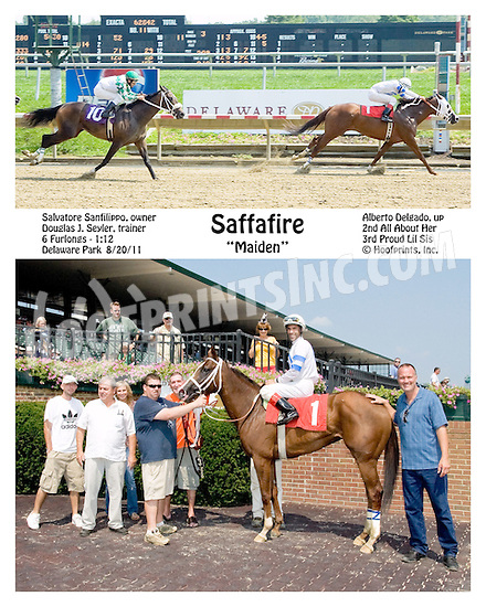 Saffire winning at Delaware Park on 8/20/11.