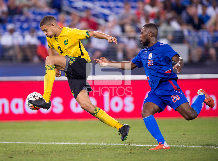 Baltimore, MD - July 18, 2015:  Jamaica defeated Haiti 1-0 during the semifinals of the Gold Cup at M&T Bank Stadium.