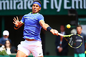 7th June 2017, Roland Garros, Paris, France; French Open tennis championships;  RAFAEL NADAL (ESP) plays Carreno-Busta during day eleven match of the 2017 French Open at Stade Roland-Garros in Paris, France.