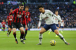 Tottenham's Son Heung-min is challenged by Bournemouth's Lewis Cook during the Premier League match at the Tottenham Hotspur Stadium, London. Picture date: 30th November 2019. Picture credit should read: Paul Terry/Sportimage