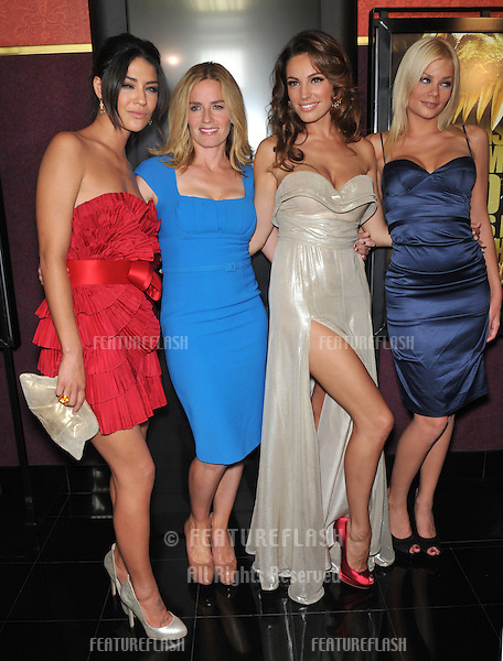 "LtoR:  Jessica Szohr, Elisabeth Shue, Kelly Brook & Riley Steele at the Los Angeles premiere of their new movie ""Piranha 3D"" at Mann's Chinese 6 Theatre, Hollywood..August 18, 2010  Los Angeles, CA.Picture: Paul Smith / Featureflash"