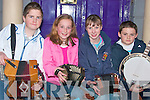 Taking part in the Street Busking competition at The Fladh by the Feale in Abbeyfeale, on Friday night werefrom l-r David Hurley, Lisa Shine, Orlaith Walshe and Darragh Horan   Copyright Kerry's Eye 2008