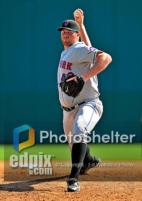 10 March 2009: New York Mets' pitcher Eddie Kunz on the mound during a Spring Training game against the Washington Nationals at Space Coast Stadium in Viera, Florida. The Nationals and Mets tied 5-5 in the 10-inning Grapefruit League matchup. Mandatory Photo Credit: Ed Wolfstein Photo