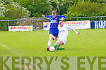 Con Barrett Kerry get in a sliding tackle on Wayne Corbert (Limk) in the Oscar Traynor Semi-Final Cup in Mounthawk Soccer park on Sunady.....