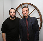 Itamar Moses and Andrew Lippa during the Dramatists Guild Foundation Salon with Playwright Itamar Moses at the Cryer Residence on December 7, 2017 in New York City.