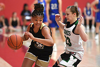 NWA Democrat-Gazette/J.T. WAMPLER Elauna Eaton of Nettleton plays during a basketball camp Monday June 10, 2019. Nettleton is one of the state's top uncommitted players in the 2020 class.