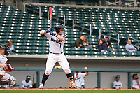 Santiago (Santi) Garcia (7) of Enterprise High School in Daleville, Alabama during the Under Armour All-American Pre-Season Tournament presented by Baseball Factory on January 14, 2017 at Sloan Park in Mesa, Arizona.  (Freek Bouw/MJP/Four Seam Images)