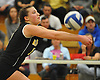 Wantagh No. 15 Jillian Graham makes  a set during the Nassau County varsity girls' volleyball Class A final against Long Beach at SUNY Old Westbury on Wednesday, Nov. 11, 2015. Wantagh won 3-0.<br /> <br /> James Escher