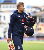 June 10th 2017, Edgbaston, Birmingham, England;  ICC Champions Trophy Cricket, England versus Australia; Joe Root of England warming up