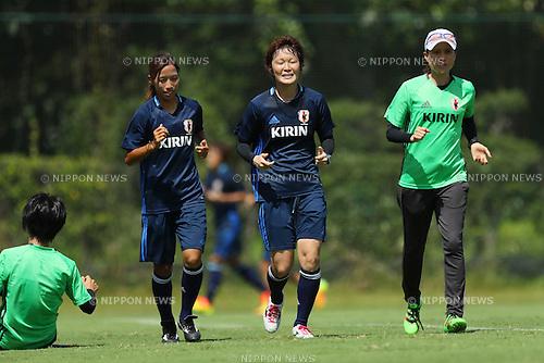 (L to R) <br /> Emi Nakajima, <br /> Mizuho Sakaguchi, <br />  Asako Takakura (JPN), <br /> SEPTEMBER 6, 2016 - Football / Soccer : <br /> Japan Women's National team training camp <br /> in Chiba, Japan. <br /> (Photo by YUTAKA/AFLO SPORT)