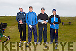 Fintan Herlihy, Ed Flahive, Seamus Cronin and Pat Leahy from Castlegregory golf club at the Federation of Co Kerry golf clubs Kerry Shield which  took place at Castlegregory Golf Club on Saturday