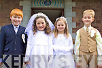 First Holy Communion: Pupils from Foilmore N.S. who made their first holy communion on Sunday in Foilmore Church were l-r Dylan Keating, Saoirse O'Connor, Ellen O'Sullivan, Cathal Moriarty