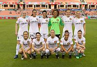 Houston, TX - Friday March 30, 2018: Utah Royals FC Starting XI during a regular season National Women's Soccer League (NWSL) match between the Houston Dash and the Utah Royals FC at BBVA Compass Stadium.