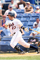 July 7th 2008:  Catcher Mike Nickeas of the Binghamton Mets, Class-AA affiliate of the New York Mets, during a game at NYSEG Stadium in Binghamton, NY.  Photo by:  Mike Janes/Four Seam Images