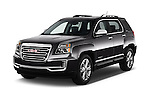 2017 GMC Terrain SLT 5 Door SUV Angular Front stock photos of front three quarter view