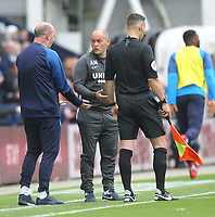Preston North End's Manager Alex Neil and Wigan Athletic's Manager Paul Cook exchange words<br /> <br /> Photographer Mick Walker/CameraSport<br /> <br /> The EFL Sky Bet Championship - Preston North End v Wigan Athletic - Saturday 10th August 2019 - Deepdale Stadium - Preston<br /> <br /> World Copyright © 2019 CameraSport. All rights reserved. 43 Linden Ave. Countesthorpe. Leicester. England. LE8 5PG - Tel: +44 (0) 116 277 4147 - admin@camerasport.com - www.camerasport.com