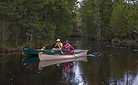 Canoeing along the Oswego River, Wharton State Forest, New Jersey