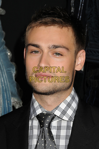 Douglas Booth<br /> &quot;Romeo &amp; Juliet&quot; Los Angeles Premiere held at Arclight Cinemas, Hollywood, California, USA.<br /> September 24th, 2013<br /> headshot portrait suit white shirt grey gray check tie black stubble facial hair <br /> CAP/ADM/BP<br /> &copy;Byron Purvis/AdMedia/Capital Pictures