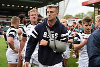 Sam Bedlow of Bristol Bears leaves the field after the match. Gallagher Premiership match, between Leicester Tigers and Bristol Bears on April 27, 2019 at Welford Road in Leicester, England. Photo by: Patrick Khachfe / JMP