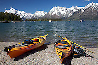 Sea Kayaks, Leeks Marina, Jackson Lake, Grand Tetons, Grand Teton National Park