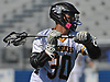 Ethan Insinga #30 of Wantagh carries downfield during the Nassau County varsity boys lacrosse Class C semifinals against Bethpage at Shuart Stadium, located on the campus Hofstra University in Hempstead, on Friday, May 25, 2018. Wantagh won by a score of 12-8.
