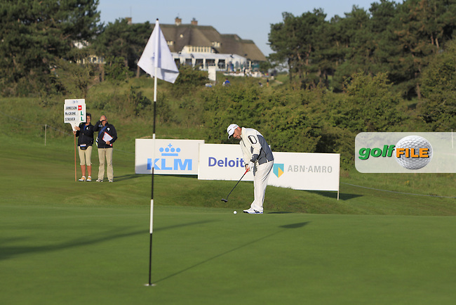 Damien McGrane (IRL) on the 1st green during Round 1 of the 2015 KLM Open at the Kennemer Golf &amp; Country Club in The Netherlands on 10/09/15.<br /> Picture: Thos Caffrey | Golffile