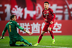 Shanghai FC Forward Wu Lei (R) scores his goal during the AFC Champions League 2017 Group F match between Shanghai SIPG FC (CHN) vs Western Sydney Wanderers (AUS) at the Shanghai Stadium on 28 February 2017 in Shanghai, China. Photo by Marcio Rodrigo Machado / Power Sport Images