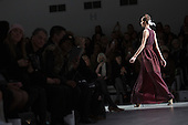 14 February 2014, London, England, UK. A model walks the runway at the Bora Aksu catwalk show during London Fashion Week AW14 at Somerset House, London.