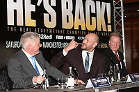 Tyson Fury during a Press Conference at the Four Seasons Hotel on 12th April 2018