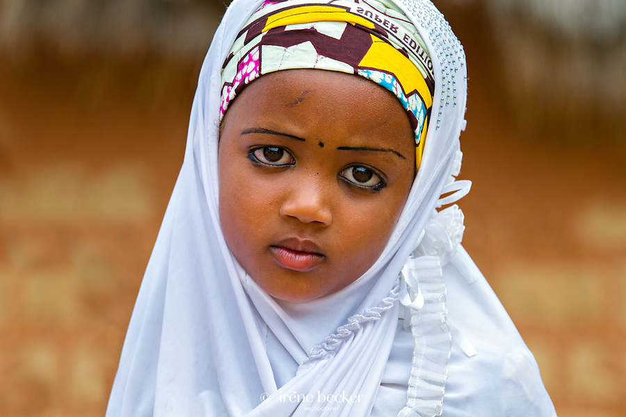Portrait from a Fulani marriage ceremony. Kajuru, North-western Nigeria.