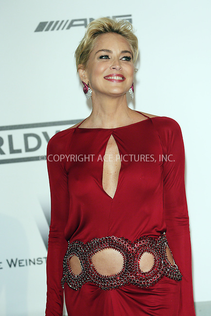ACEPIXS.COM<br /> <br /> May 21 2014, Cannes<br /> <br /> Sharon Stone arriving at amfAR's 21st Cinema Against AIDS Gala during the 67th Cannes International Film Festival at Hotel du Cap-Eden-Roc on May 21 2014 in Cap d'Antibes, France<br /> <br /> By Line: Famous/ACE Pictures<br /> <br /> ACE Pictures, Inc.<br /> www.acepixs.com<br /> Email: info@acepixs.com<br /> Tel: 646 769 0430