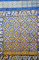 World Civilization:  Topkapi  Palace--Circumcision Room, a summer kiosk  dedicated to the circumcision of young princes , 16th century. Decorated with a mix of rich recycled tiles.