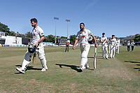 Ryan ten Doeschate (L) and Ravi Bopara of Essex leave the field at the first interval after compiling a 200 run partnership during Essex CCC vs Somerset CCC, Specsavers County Championship Division 1 Cricket at The Cloudfm County Ground on 26th June 2018