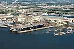 Aerial views of Dredging operations in the port of Philadelphia