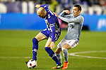 Deportivo Alaves' Gaizka Toquero (l) and Celta de Vigo's Iago Aspas during Spanish Kings Cup semifinal 2nd leg match. February 08,2017. (ALTERPHOTOS/Acero)