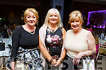 Mary Lane from Valentia, Norma Lee (Tralee) and Mary Griffin (Castlegregory) attending the Daily Diva and Stuart's Select Style Autumn/Winter Fashion Fix  show in aid of Recovery Haven Kerry in the Ballygarry House Hotel on Saturday night.