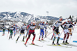 12 MAR 2016:  Racers compete during the Men's 20K Classic event at the 2016 NCAA Men and Women's Skiing Championships held at the Howelsen Hill Ski Area in Steamboat Springs, CO.   Jamie Schwaberow/NCAA Photos